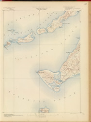 Gay Head, MA 1890 USGS Old Topo Map 15x15 Quad RSY