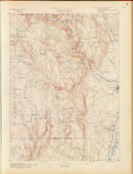 Granville, MA 1890 USGS Old Topo Map 15x15 Quad RSY