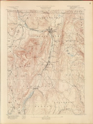 Greylock, MA 1890 USGS Old Topo Map 15x15 Quad RSY