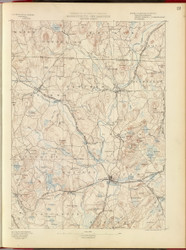 Groton, MA 1890 USGS Old Topo Map 15x15 Quad RSY