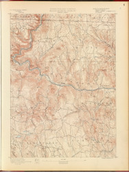 Hawley, MA 1890 USGS Old Topo Map 15x15 Quad RSY