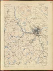 Lowell, MA 1890 USGS Old Topo Map 15x15 Quad RSY