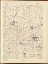 Marlboro, MA 1890 USGS Old Topo Map 15x15 Quad RSY
