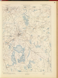 Middleborough, MA 1890 USGS Old Topo Map 15x15 Quad RSY