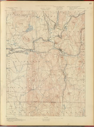 Palmer, MA 1890 USGS Old Topo Map 15x15 Quad RSY