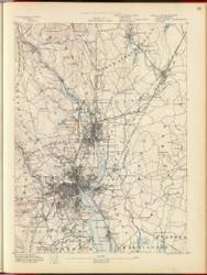 Providence, MA 1890 USGS Old Topo Map 15x15 Quad RSY