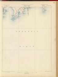 Sakonnet, MA 1890 USGS Old Topo Map 15x15 Quad RSY