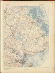 Salem, MA 1890 USGS Old Topo Map 15x15 Quad RSY