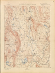 Sheffield, MA 1890 USGS Old Topo Map 15x15 Quad RSY