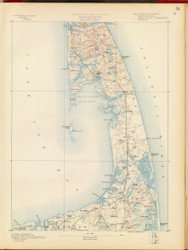 Wellfleet, MA 1890 USGS Old Topo Map 15x15 Quad RSY