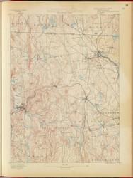 Winchendon, MA 1890 USGS Old Topo Map 15x15 Quad RSY