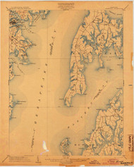 Annapolis, Maryland 1904 (1904) USGS Old Topo Map 15x15 Quad