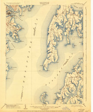 Annapolis, Maryland 1904 (1930) USGS Old Topo Map 15x15 Quad