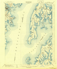 Annapolis, Maryland 1904 (1944) USGS Old Topo Map 15x15 Quad
