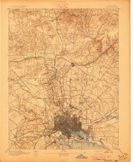 Baltimore, Maryland 1894 (1894b) USGS Old Topo Map 15x15 Quad