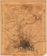 Baltimore, Maryland 1899 (1899) USGS Old Topo Map 15x15 Quad