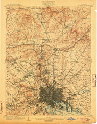 Baltimore, Maryland 1904 (1904) USGS Old Topo Map 15x15 Quad