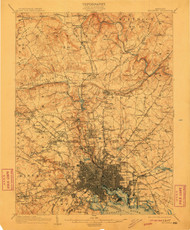 Baltimore, Maryland 1904 (1911) USGS Old Topo Map 15x15 Quad