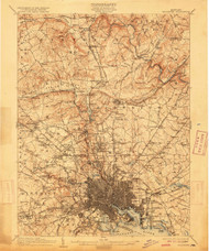 Baltimore, Maryland 1904 (1915) USGS Old Topo Map 15x15 Quad