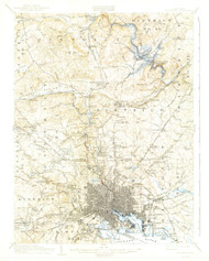 Baltimore, Maryland 1904 (1942) USGS Old Topo Map 15x15 Quad