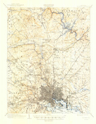 Baltimore, Maryland 1904 (1947) USGS Old Topo Map 15x15 Quad