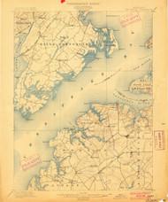 Betterton, Maryland 1900 (1900) USGS Old Topo Map 15x15 Quad