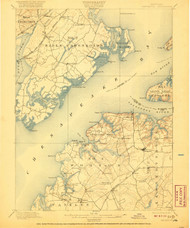 Betterton, Maryland 1900 (1920) USGS Old Topo Map 15x15 Quad