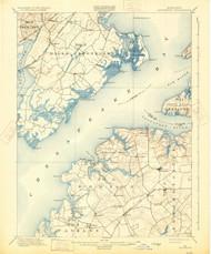 Betterton, Maryland 1900 (1931) USGS Old Topo Map 15x15 Quad