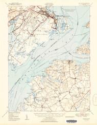 Betterton, Maryland 1951 (1951b) USGS Old Topo Map 15x15 Quad