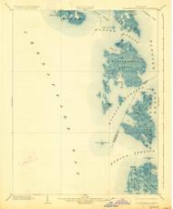 Bloodsworth Island, Maryland 1903 (1927) USGS Old Topo Map 15x15 Quad