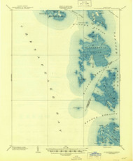 Bloodsworth Island, Maryland 1903 (1945) USGS Old Topo Map 15x15 Quad