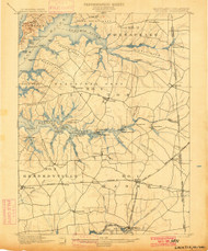 Cecilton, Maryland 1900 (1900) USGS Old Topo Map 15x15 Quad