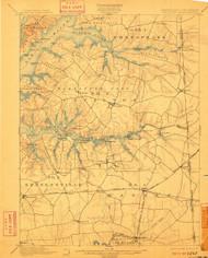 Cecilton, Maryland 1900 (1910) USGS Old Topo Map 15x15 Quad