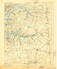 Cecilton, Maryland 1900 (1928) USGS Old Topo Map 15x15 Quad