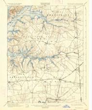Cecilton, Maryland 1900 (1934) USGS Old Topo Map 15x15 Quad