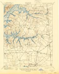 Cecilton, Maryland 1900 (1945) USGS Old Topo Map 15x15 Quad