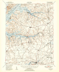 Cecilton, Maryland 1951 (1951a) USGS Old Topo Map 15x15 Quad