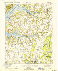 Cecilton, Maryland 1951 (1951b) USGS Old Topo Map 15x15 Quad