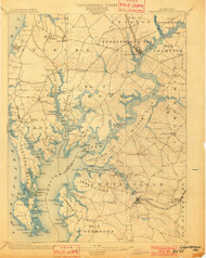 Chestertown, Maryland 1901 (1901) USGS Old Topo Map 15x15 Quad