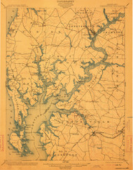 Chestertown, Maryland 1901 (1913) USGS Old Topo Map 15x15 Quad