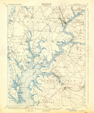Chestertown, Maryland 1900 (1931) USGS Old Topo Map 15x15 Quad