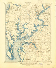 Chestertown, Maryland 1901 (1945) USGS Old Topo Map 15x15 Quad