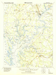 Chestertown, Maryland 1920 (1920) USGS Old Topo Map 15x15 Quad