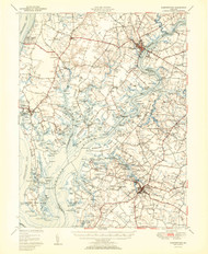 Chestertown, Maryland 1951 (1951a) USGS Old Topo Map 15x15 Quad