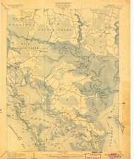 Crapo, Maryland 1905 (1905) USGS Old Topo Map 15x15 Quad