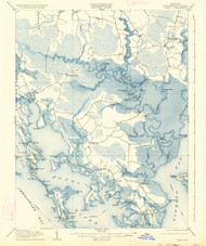 Crapo, Maryland 1905 (1935) USGS Old Topo Map 15x15 Quad