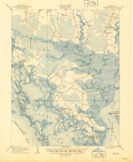 Crapo, Maryland 1905 (1945) USGS Old Topo Map 15x15 Quad