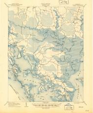 Crapo, Maryland 1905 (1945) USGS Old Topo Map 15x15 Quad