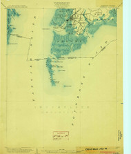 Crisfield, Maryland 1903 (1903) USGS Old Topo Map 15x15 Quad