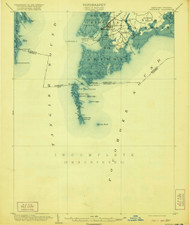 Crisfield, Maryland 1903 (1920) USGS Old Topo Map 15x15 Quad